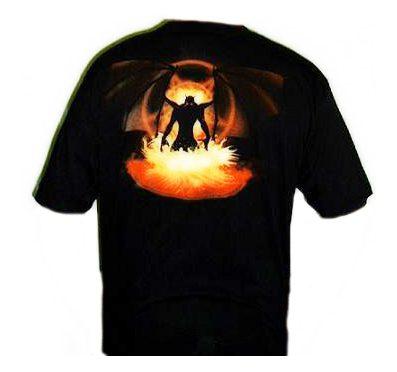 Camiseta Spiral Puertas Del Infierno detrás
