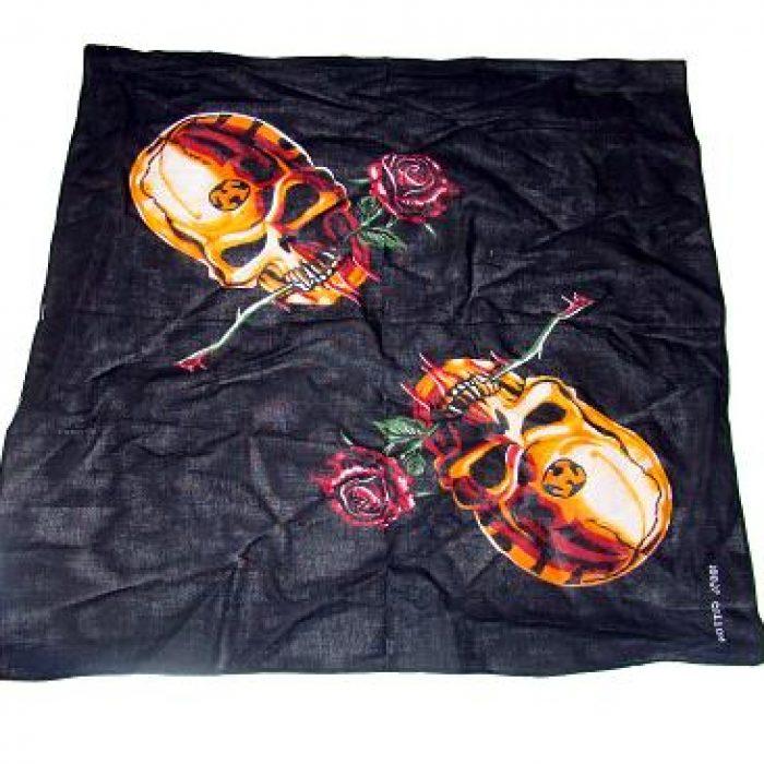 Bandana Roses & Skulls