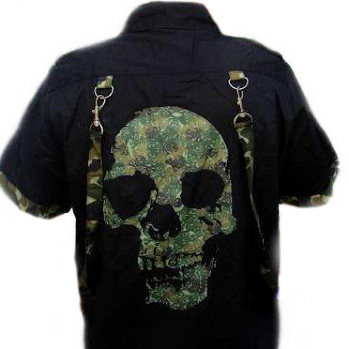 Camisa Calavera Militar