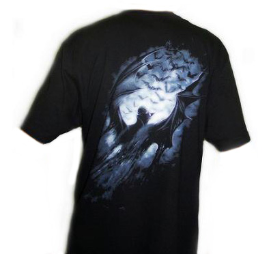Camiseta Spiral Vampiro Gótico detrás