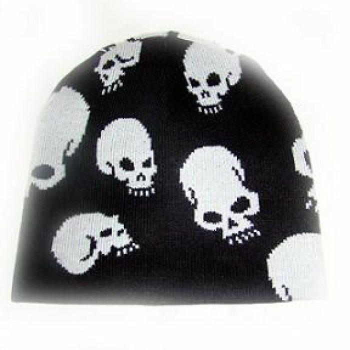 Gorro White Skulls