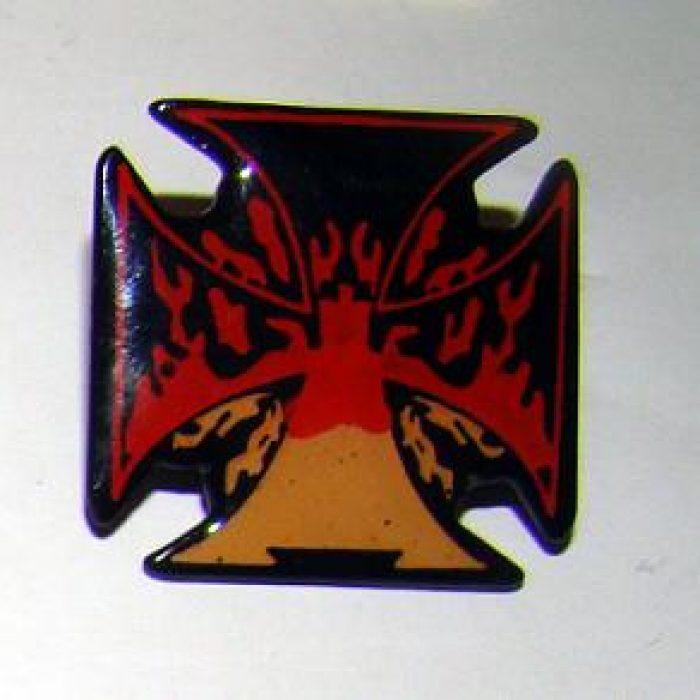 Pin Cruz de Malta Fuego
