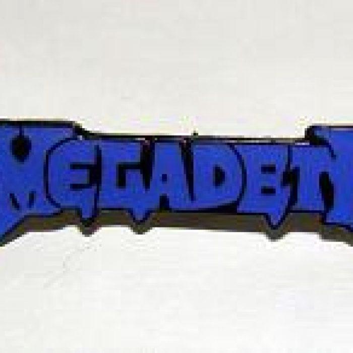 Pin Megadeth Azul