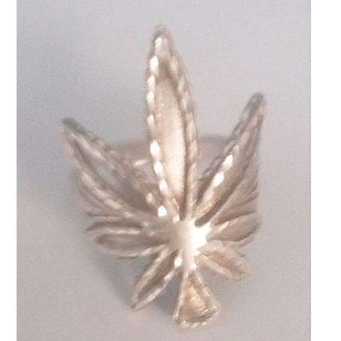 Anillo Plata Marihuana