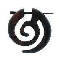 Pendientes de Madera Espiral Celta
