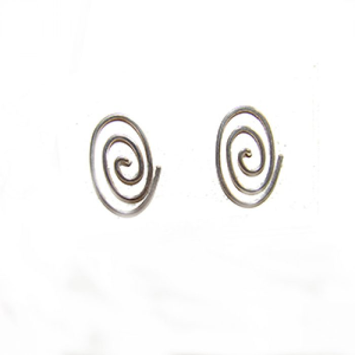 Pendientes Plata Espiral Celta Ovalada