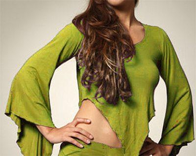 camiseta asimétrica hada verde claro