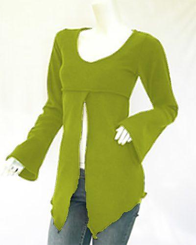 Camiseta Manga Larga Hada Verde Claro