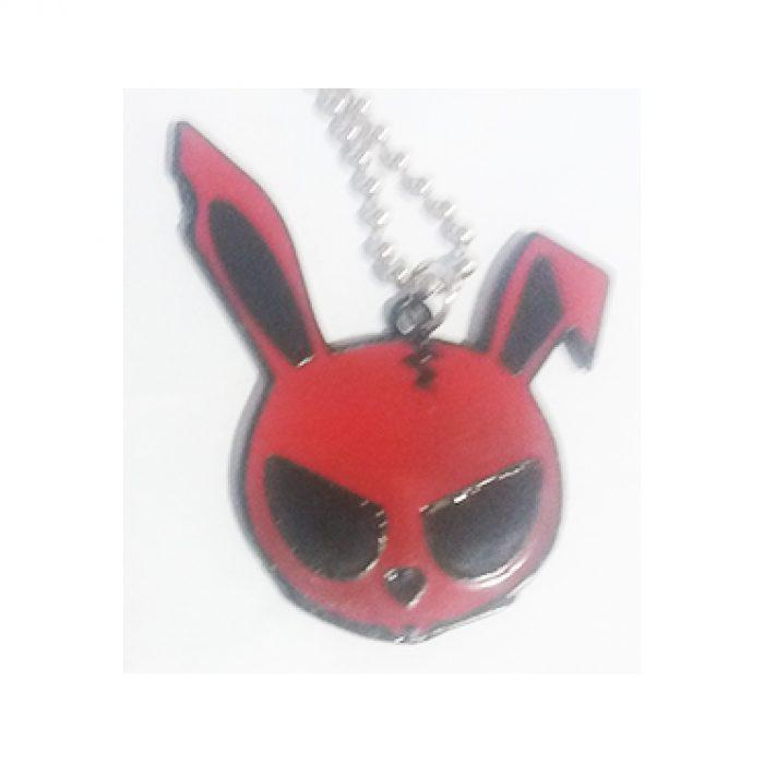 Colgante Calavera Conejo Rojo