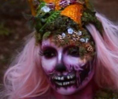maquillaje bosque fantasía