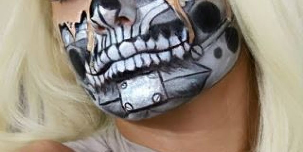 Maquillaje cyber robot