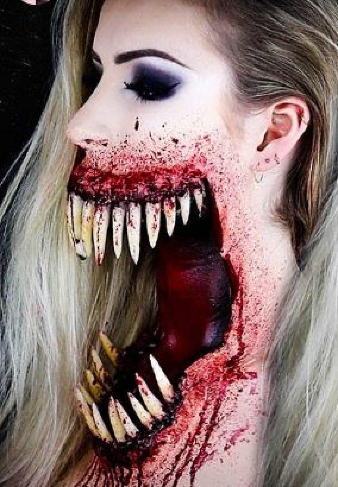 maquillaje boca gigante