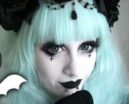 maquillaje pastel goth