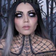 maquillaje reina de la oscuridad