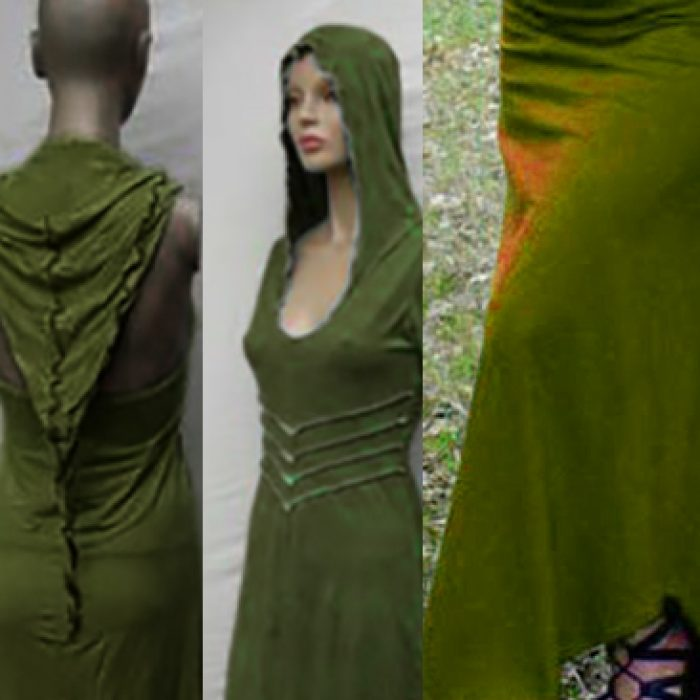 Vestido Largo Hada Verde Oliva